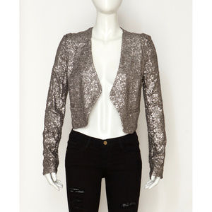 NWT Silver Sequin Jacket